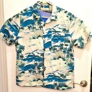 Island Republic mens XL Silk Blend Hawaiian Shirt
